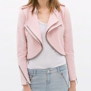 Zara Zippered Jacket—Pink